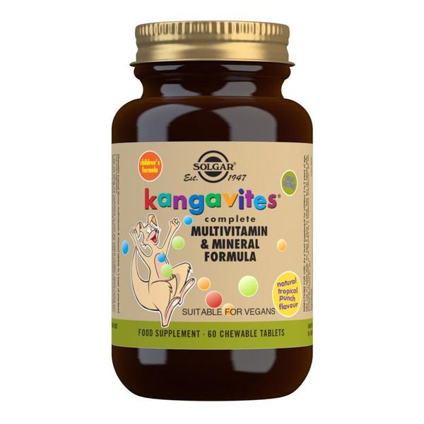 Kangavites Tropical Punch Complete Multivitamin and Mineral Formula Chewable 60 Tablets