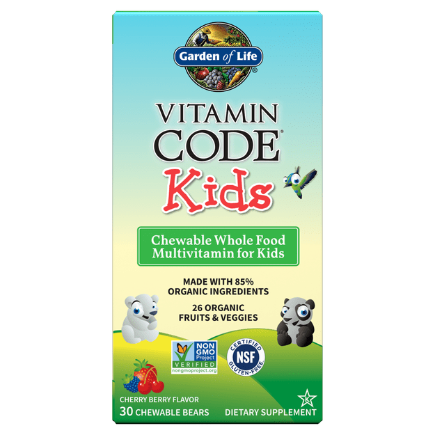 Vitamin Code Kids, Chewable Whole Food Multivitamin For Kids – 30 chewable bears