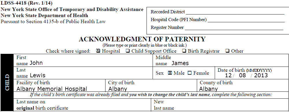Texas Birth Certificate Request