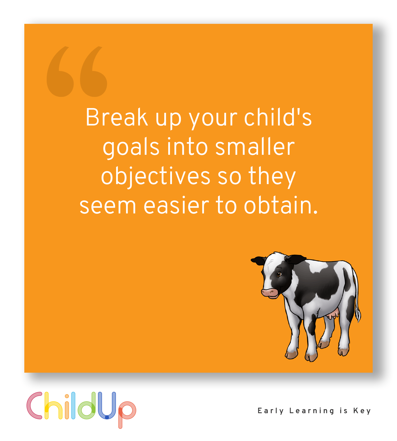 Break Up Your Child S Goals Into Smaller Objectives