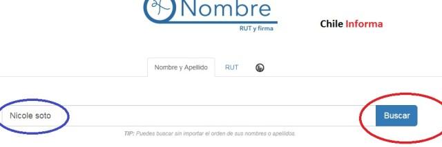 Nombre Rut y firma