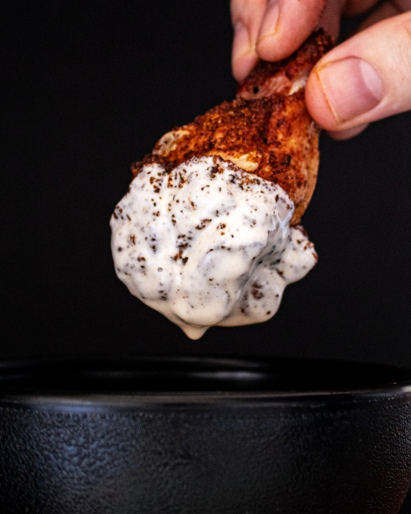 maize glaze dipped chicken wings