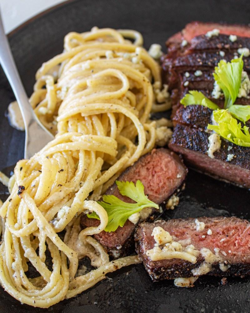 gorgonzola steak alfredo
