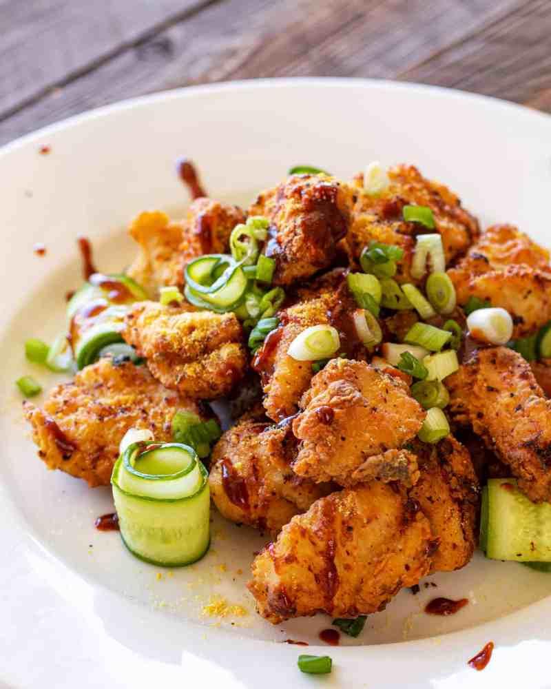honey mustard korean fried chicken
