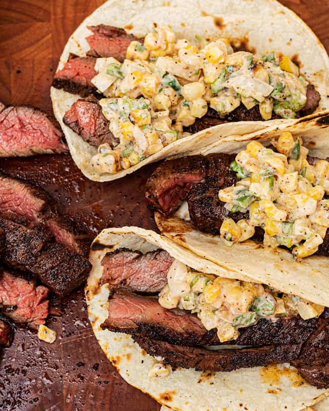 Time to eat these skirt steak tacos