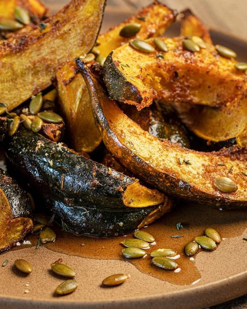 side dish of roasted acorn squash