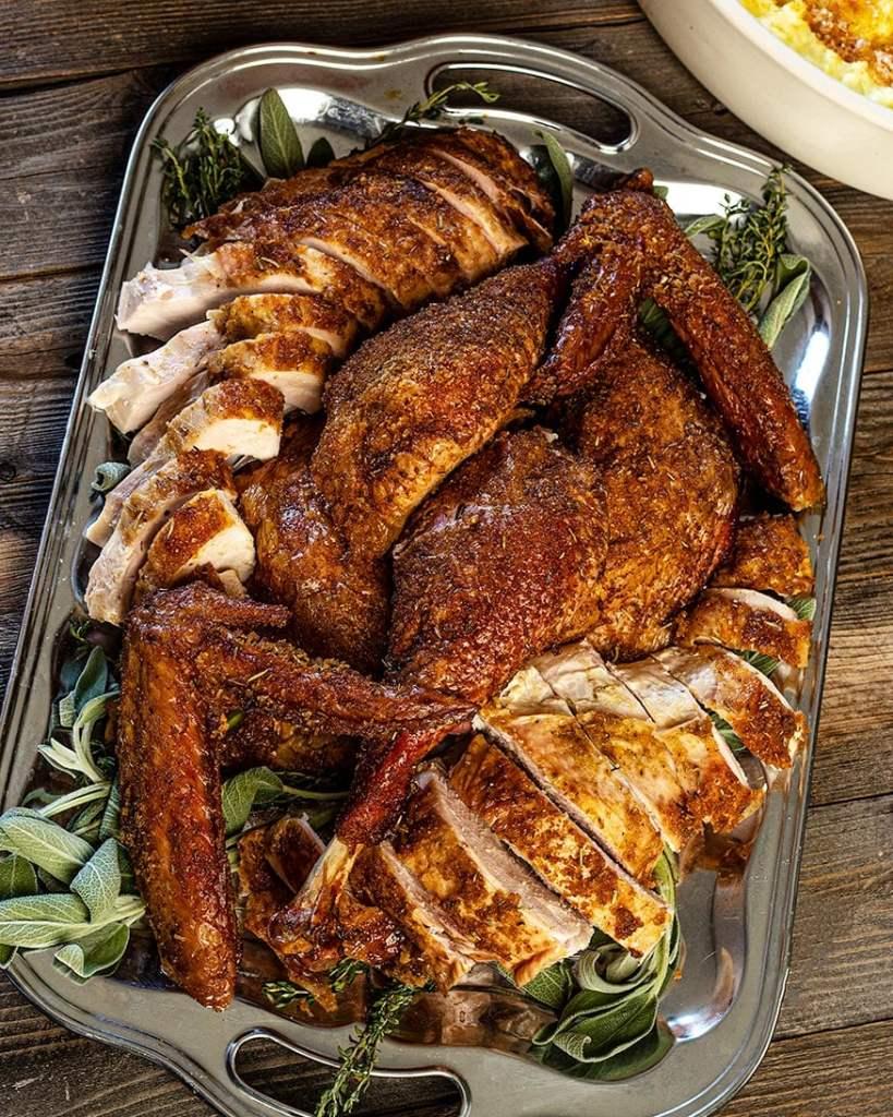 pork crusted turkey