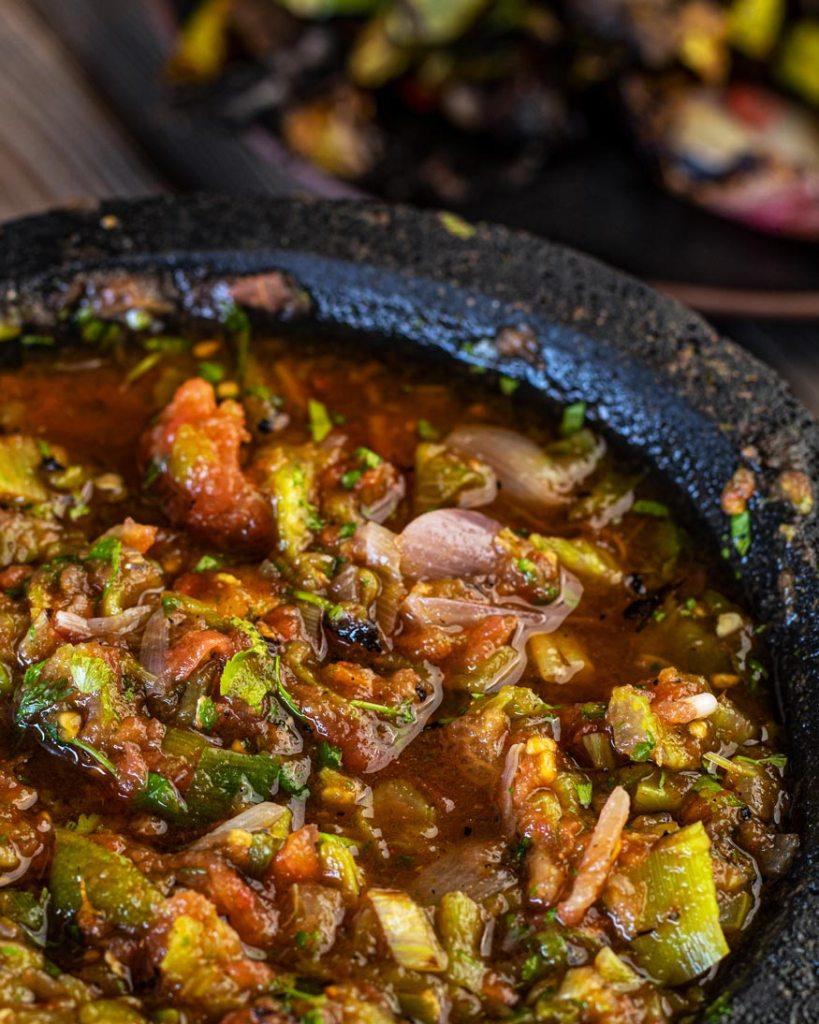Fire roasted Santa maria salsa