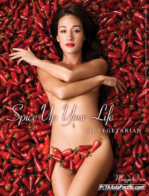 "Maggie Q ""Spice up your life"" for PETA"