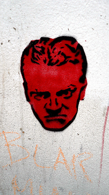 Angry red-faced stencil, Clerkenwell, London, UK.JPG 2.