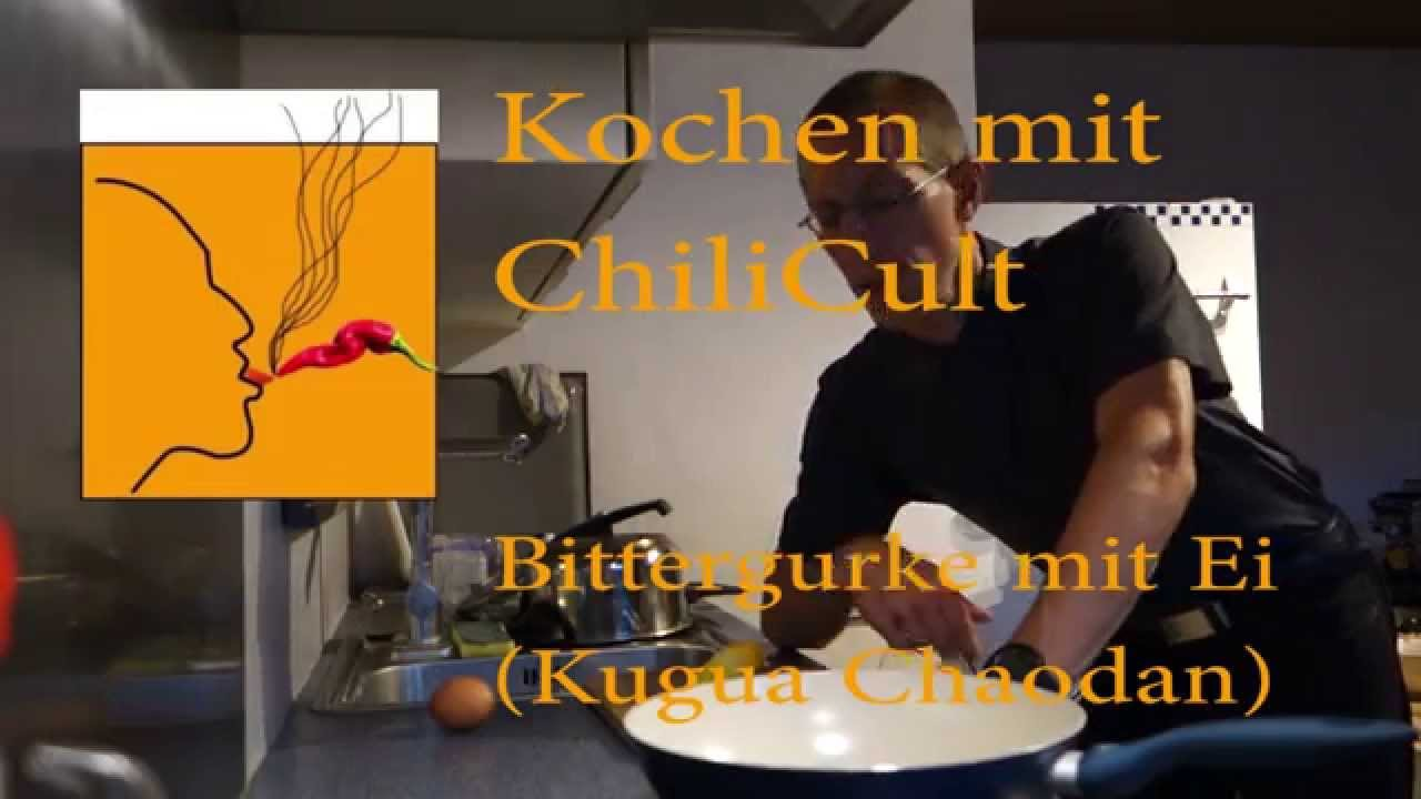 Cooking with ChiliCult: Fried Egg with Bitter Melon (Kugua Chaodan)