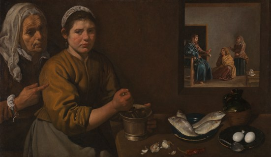 Diego Velázquez, Kitchen Scene with Christ in the House of Martha and Mary