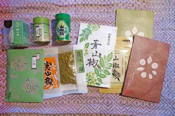 Sansho (japanischer Pfeffer) verschiedener Art aus Kyoto