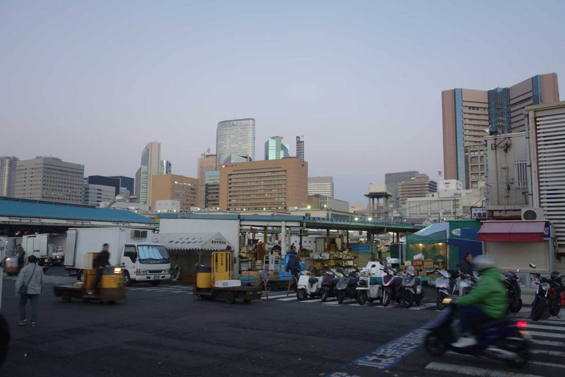 Tsukiji Market Skyline