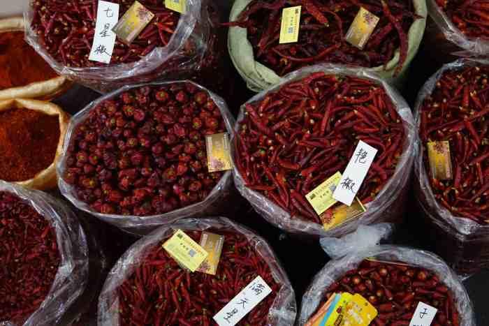 Verschiedene Sorten an chinesischem (Guizhou) Chilli