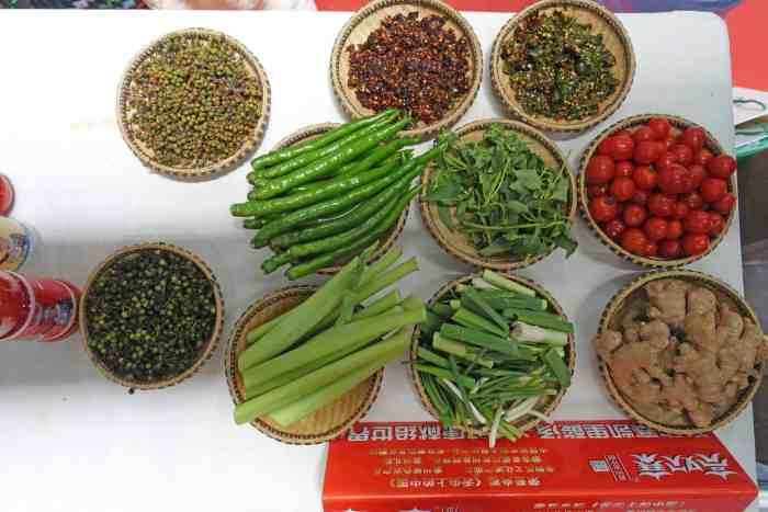 Zunyi Chili-Expo, Zutaten bzw. Gewürze in Suantangyu