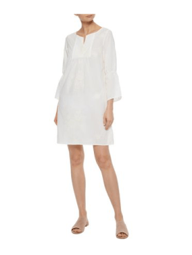 IRIS & INKWallace gathered embroidered cotton-gauze coverup £80