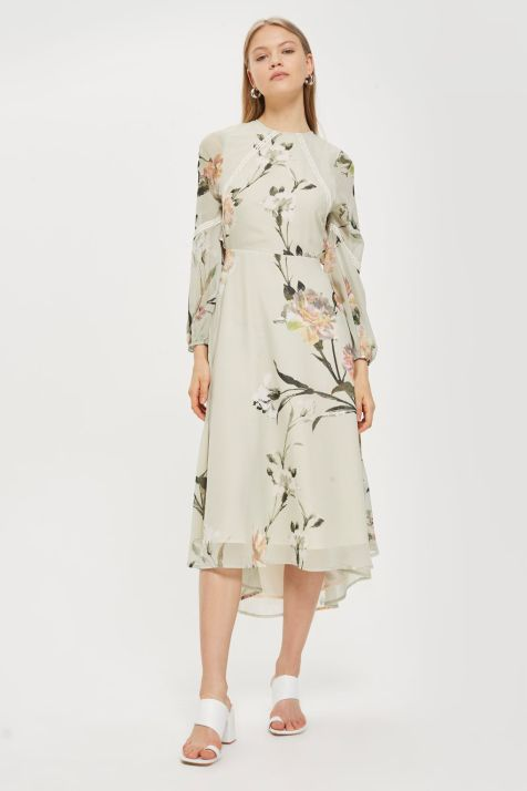 Sheared Flute Sleeve Midi Dress Was £39.00 Now £35.00