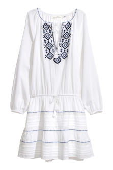 Embroidered cotton dress £34.99