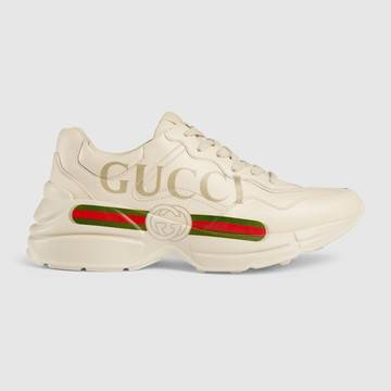 Rhyton Gucci logo leather sneaker £670