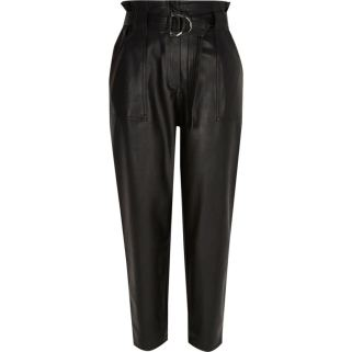 River Island Paperbag Pleather Trousers £49
