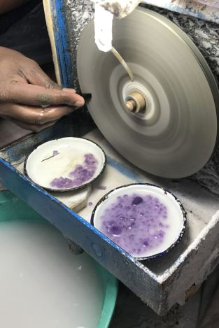 Stone faceting process SVP Jewellery