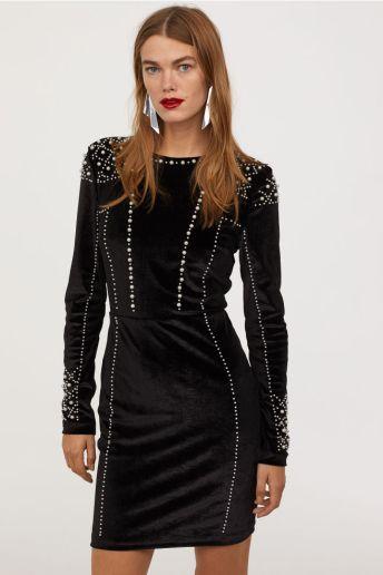 HM Velvet Bead Dress £65