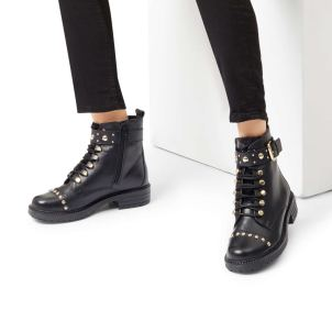 Kurt Geiger Black Faux Fur Hiker Boots £189