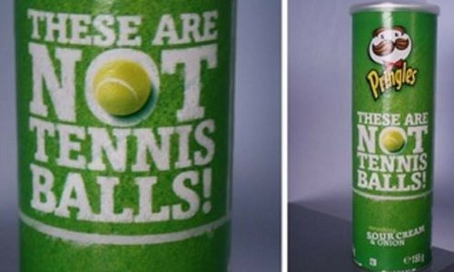 Pringles Wimbledon - How Small Businesses Can Use Guerilla Marketing - Chilliprinting