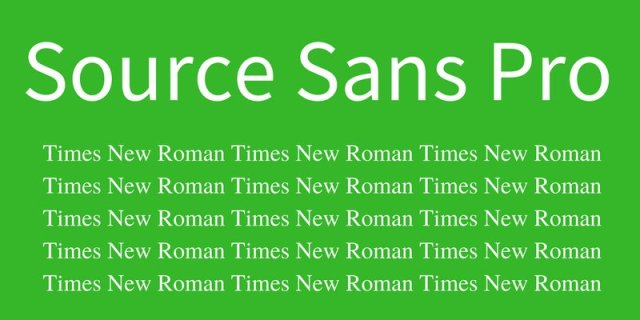 Source Sans Pro - Times News Roman - 10 Stunning Font Combinations For Design Inspiration - Chilliprinting