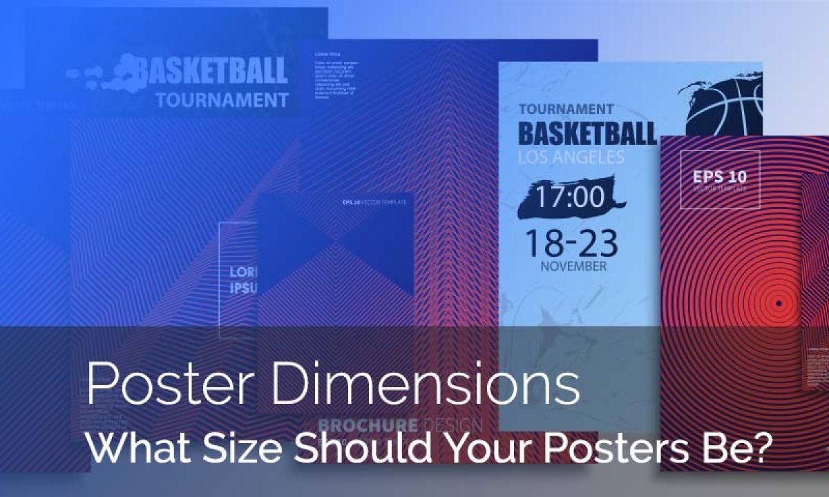 understanding standard poster sizes