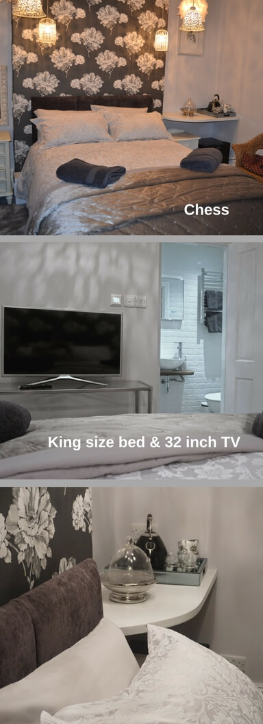 King size bedroom at Chilton house
