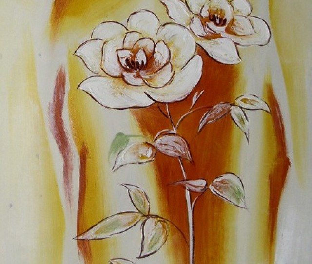 Hand Painted Oil Painting White Flowers Still Life On Canvas Chinese Abstract Flower Oil Painting Still Life On Canva Chinese