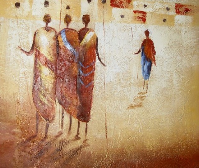 Hand Painted Chinese Abstract Oil Painting People