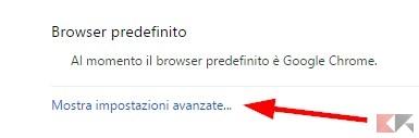 Disattivare l'esecuzione di Chrome in background