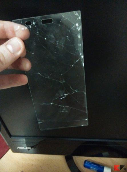pellicola vetro temperato - rotta