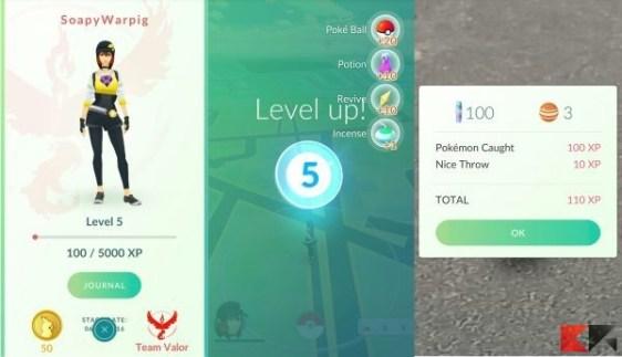 Pokémon Go - livello