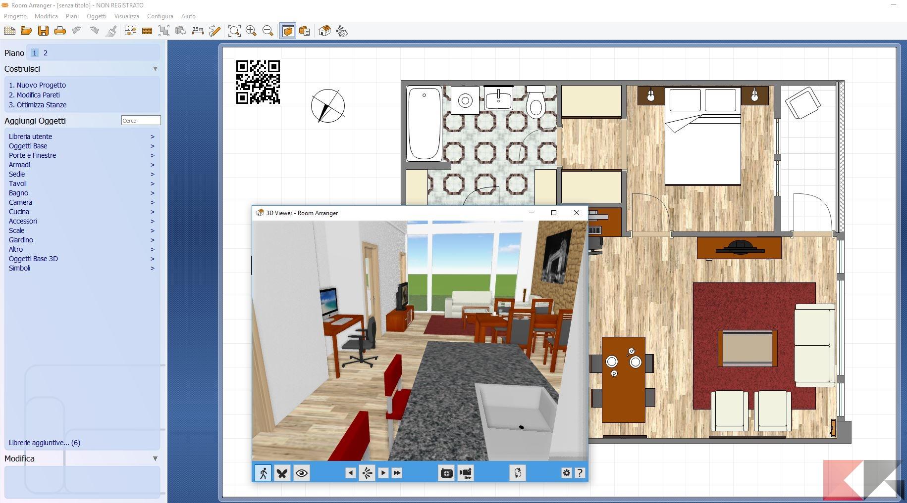 I migliori programmi per arredare casa aggregatore gnu for Progettare stanza 3d