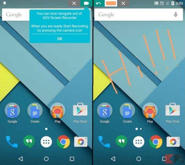 Registrare schermo Android - ADV screen recorder