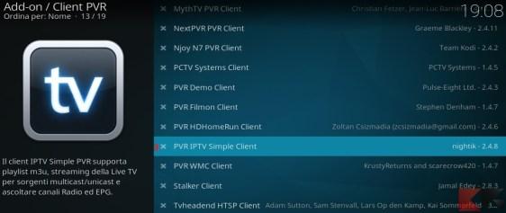 Kodi e liste IPTV M3U: il secondo passo della configurazione del client PVR
