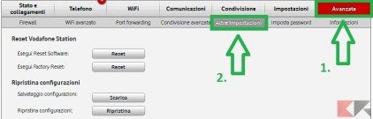 Come resettare Vodafone Station 2