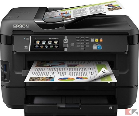Stampante multifunzione (All in One) - Epson WF-7620DTWF Workforce