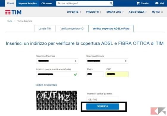 Copertura TIM Fibra e ADSL: come verificarla