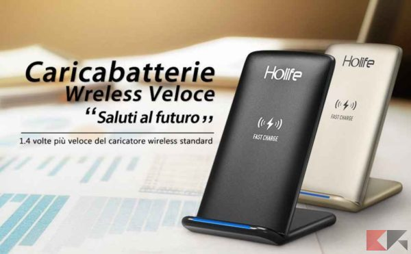 Caricabatterie Wireless Holife