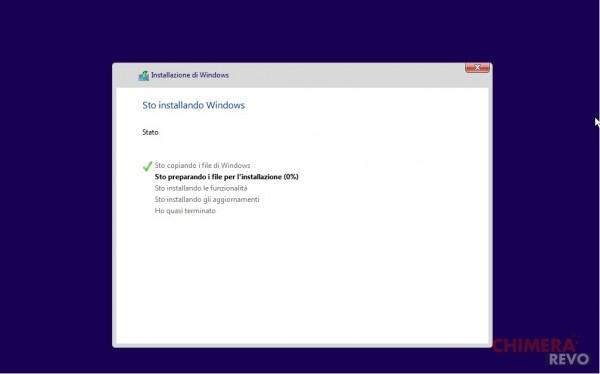 copia file installazione