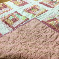 FO Friday: Amy Butler and Wonderland Wonky Log Cabin Quilt