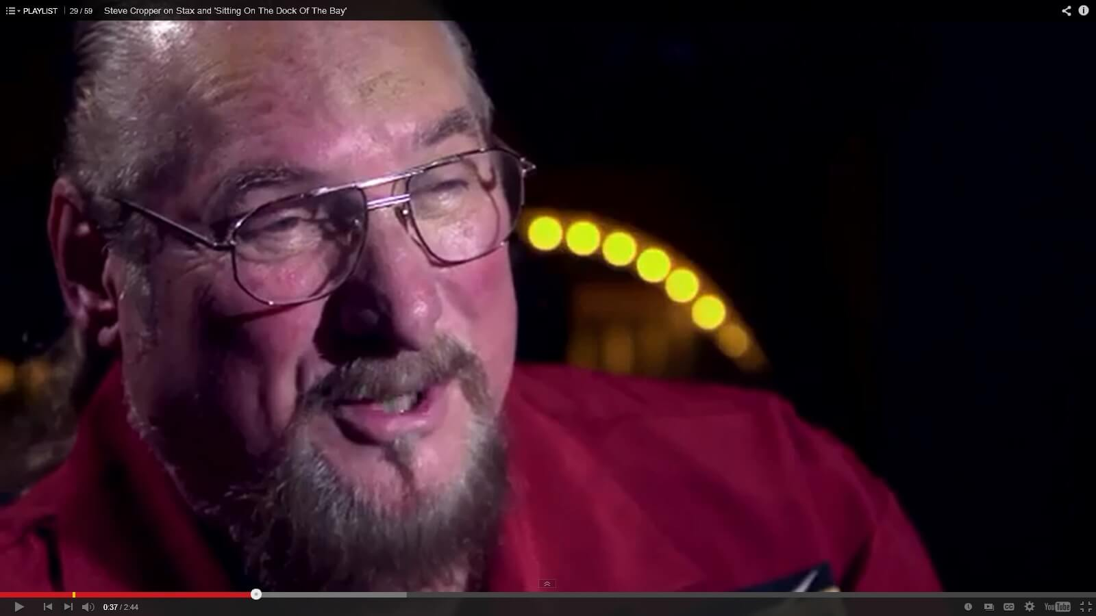 In This Segment From The Ronnie Wood Show Songwriter Steve Cropper Discusses Co Writing Sittin On Dock Of Bay With Otis Redding