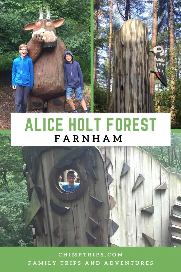 Along the trail look out for clues which lead to footprint marker. Alice Holt Forest Farnham Chimptrips
