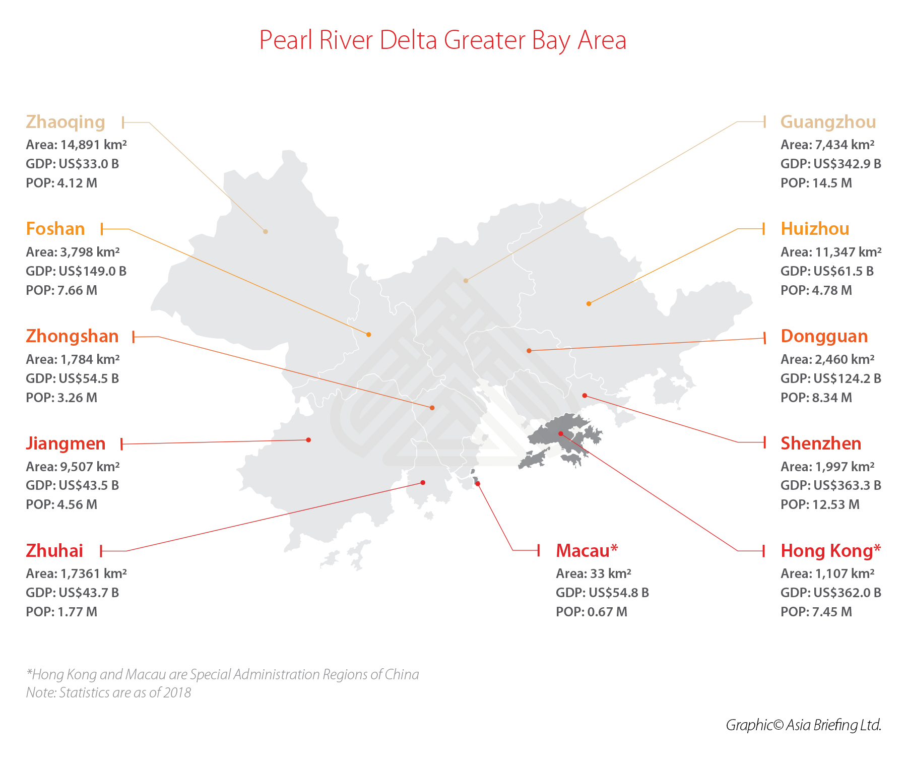 Greater Bay Area china map