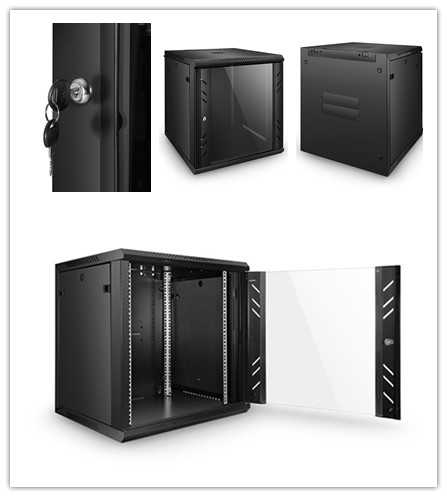 Rack and Cabinet: 9U12U 4-Post Wall Mount Network Cabinet